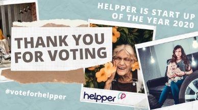 Bannière avec les mots thank you for voting